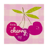 Gingham Cherry Posters by Lola Bryant