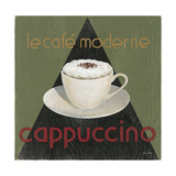 Café Moderne Cappuccino Poster by Arnie Fisk
