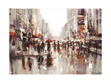 City Rain 2 Premium Giclee Print by Brent Heighton