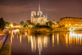 Notre Dame at Night Photographic Print by  harvepino