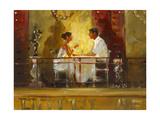Diner at the Hotel Artiste Premium Giclee Print by John Haskins