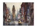 New York Rain Plakater af Brent Heighton