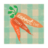 Gingham Carrot Poster by Lola Bryant