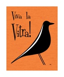Vitra Bird on Orange Photographic Print by Donna Mibus