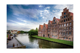Warehouses Of Old Town Lubeck Photographic Print by George Oze