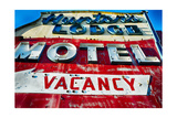Nostalgic Motel Sign, Route 46, New Jersey Photographic Print by George Oze