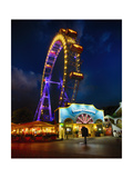 The Giant Ferris Wheel of Vienna at Night Photographic Print by George Oze