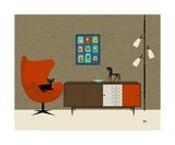 Orla Kiely Cabinet Photographic Print by Donna Mibus
