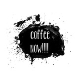 Coffee Now Paint Splatter Photographic Print by Jan Weiss