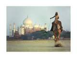 Camel And Taj Mahal Photographic Print by Charles Bowman