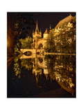 Night Reflections, Vajdahunyad Castle, Budapest Photographic Print by George Oze