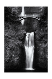 Multnomah Falls 2 Mono Photographic Print by John Gusky