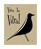 Vitra Bird on Brown Fotografisk tryk af Donna Mibus
