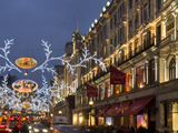 Regent Street Christmas Photographic Print by Charles Bowman
