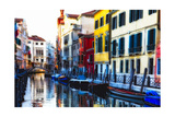 Colorful Cana Scene, l Santa Croce, Venice Photographic Print by George Oze