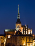 Mont St Michel Spire Photographic Print by Charles Bowman