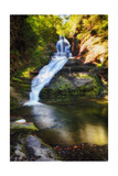 Dingmans Fall Early Autumn Scenic, Pennsylvania Photographic Print by George Oze