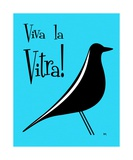 Vitra Bird on Turquoise Photographic Print by Donna Mibus