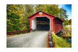 Silk Covered Bridge, Bennington, Vermont Photographic Print by George Oze