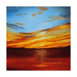 Tranquil Sunset Posters by Herb Dickinson