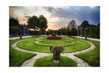 Schonbrunn Palace Garden at Sunset Photographic Print by George Oze