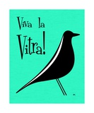 Vitra Bird on Aqua Photographic Print by Donna Mibus