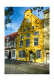 Quaint Yellow House In Old Town Lubeck Photographic Print by George Oze