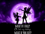 Fairy Sisters What If I Fall What If You Fly Poster by Julie Fain