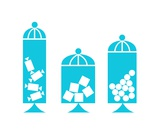 Canisters in Turquoise Photographic Print by Donna Mibus