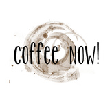 Coffee Now Coffee Satin Photographic Print by Jan Weiss