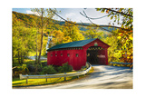 Covered Bridge In The Green Mountains, Vermont Photographic Print by George Oze