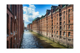 Brick Warehouses Of Speicherstadt, Hamburg Photographic Print by George Oze