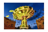 Chain Swing Ride, Prater, Vienna, Austria Photographic Print by George Oze