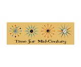 Time for Mid Century on Beige Photographic Print by Donna Mibus