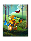 Bot and the Butterflies Photographic Print by Cindy Thornton