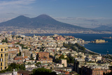 Vesuvius Viewed Acroos Naples Photographic Print by Charles Bowman