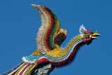 Taipei Colourful Bird Icon On Temple Longshan Photographic Print by Charles Bowman