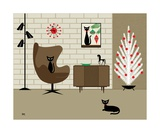 Mid Century Christmas Photographic Print by Donna Mibus