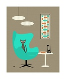 Mid Century Modern Tabby Cat Photographic Print by Donna Mibus
