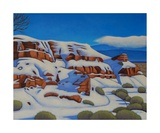 Snow on the Bluff Photographic Print by Gayle Faucette Wisbon