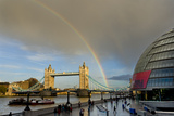 Tower Bridge Rainbow Photographic Print by Charles Bowman