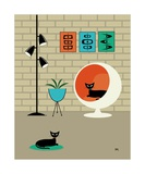 Mini Mid Century Shapes Photographic Print by Donna Mibus