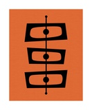 Mid Century Shapes on Orange Photographic Print by Donna Mibus