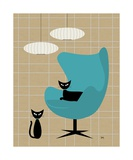 Egg Chair Photographic Print by Donna Mibus
