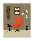 Tiki on the Wall Photographic Print by Donna Mibus