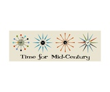 Time for Mid Century on Gray Photographic Print by Donna Mibus