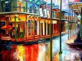 Downpour on Bourbon Street Prints by Diane Millsap