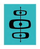 Mid Century Shapes on Turquoise 2 Photographic Print by Donna Mibus