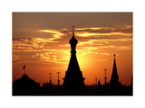 Moscow St Basils Photographic Print by Charles Bowman