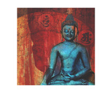 Blue Buddha Photographic Print by Elena Ray